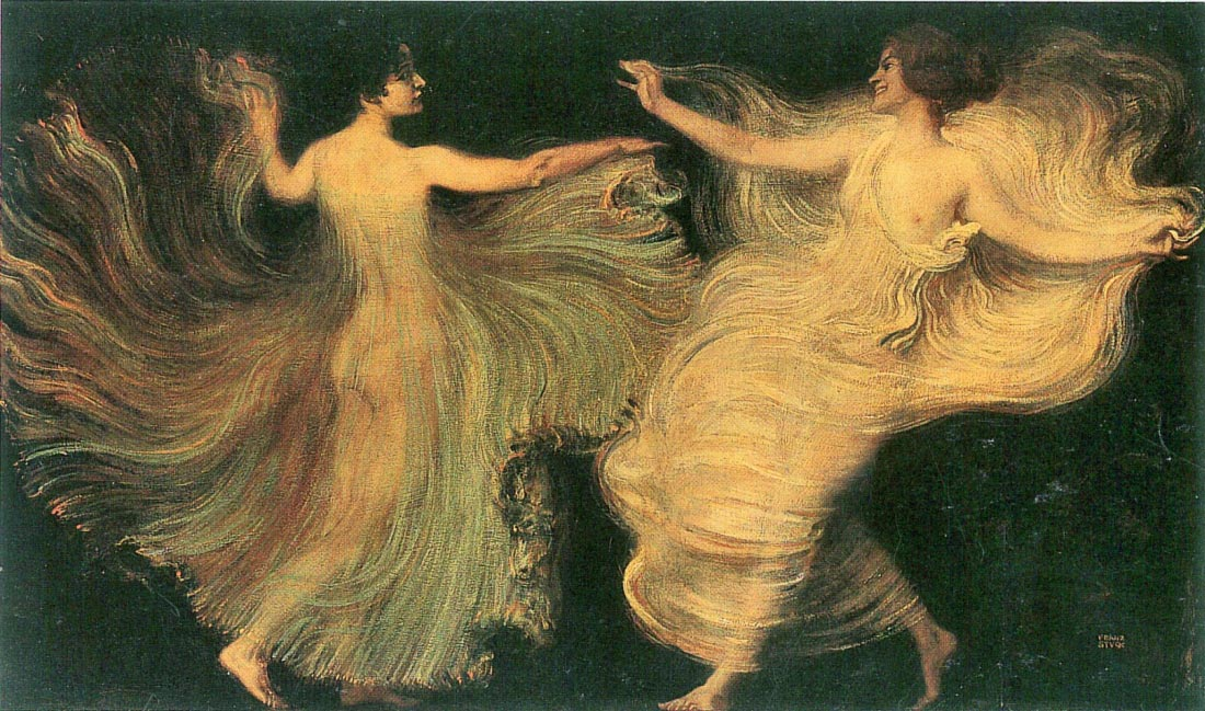 Two dancers - Franz von Stuck