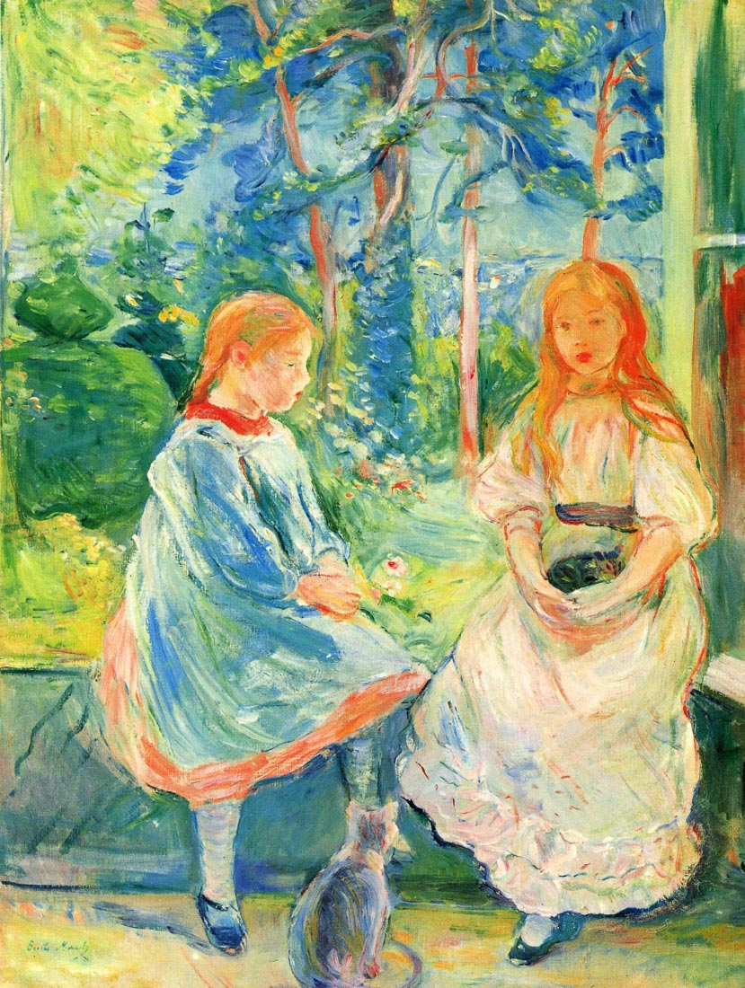 Two girls by the window - Morisot