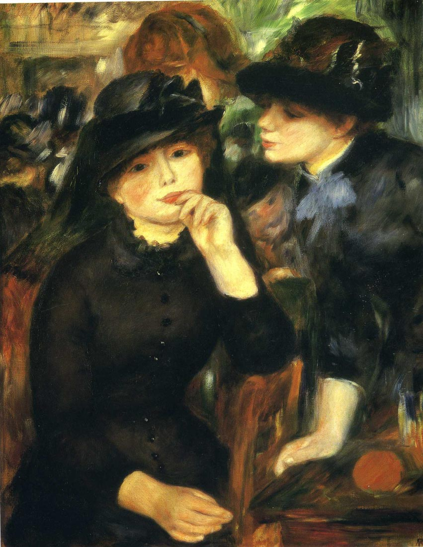 Two girls in black - Renoir