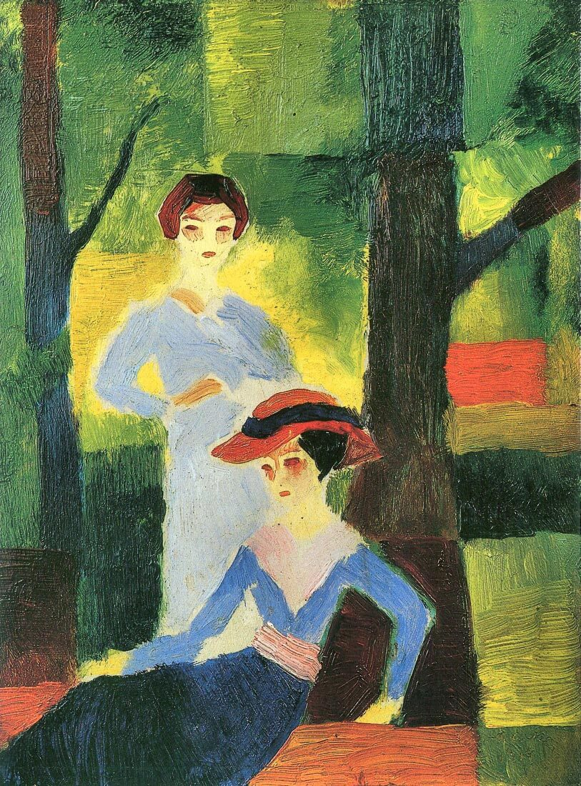 Two girls in the forest - August Macke