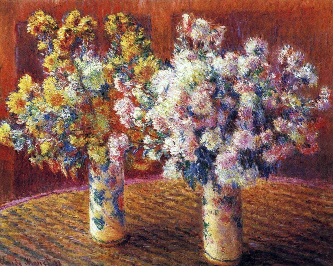 Two vases with Chrysanthemums - Monet