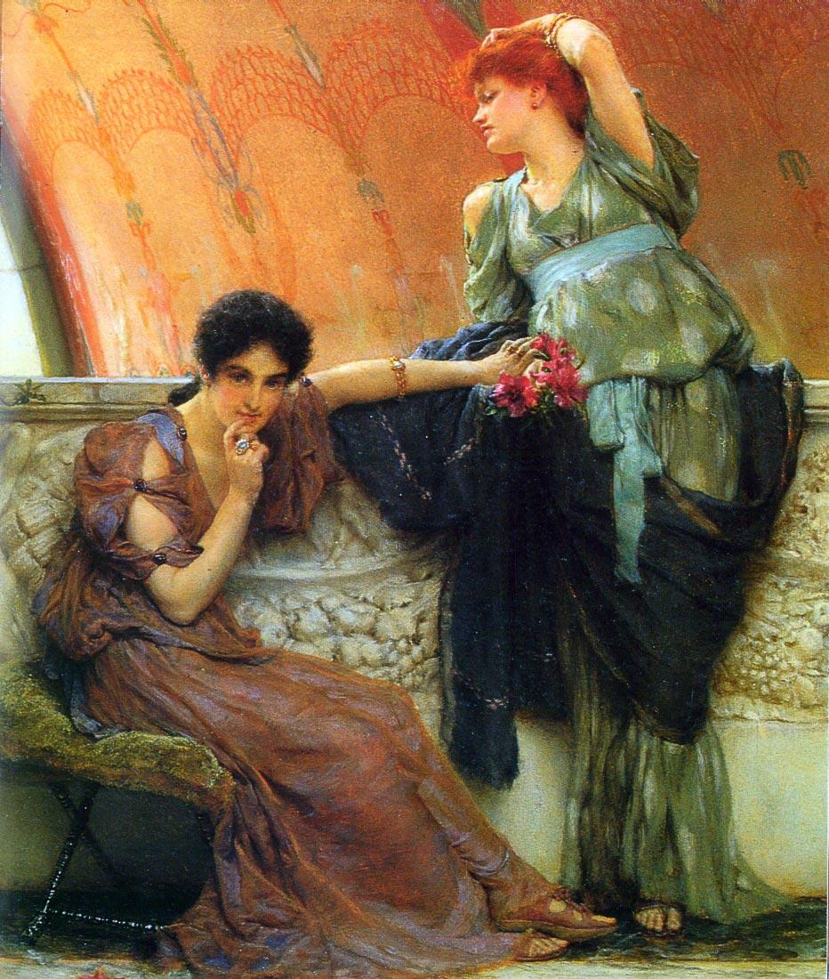 Unconscious rivals, detail - Alma-Tadema