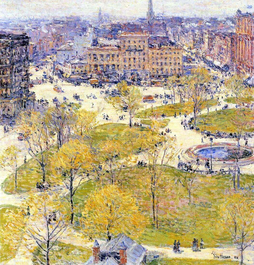 Union Square in Spring - Hassam