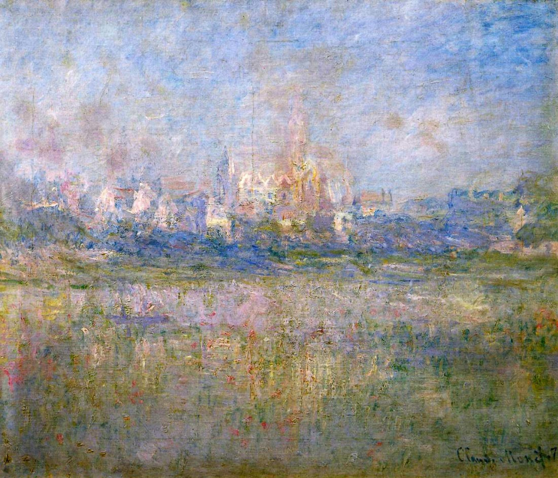 Vétheuil in the fog - Monet