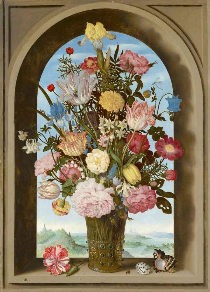 Vase of Flowers in a Window - Ambrosius Bosschaert