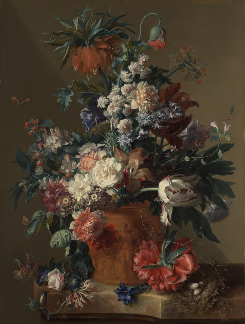 Vase of flowers - Jan van Huysum