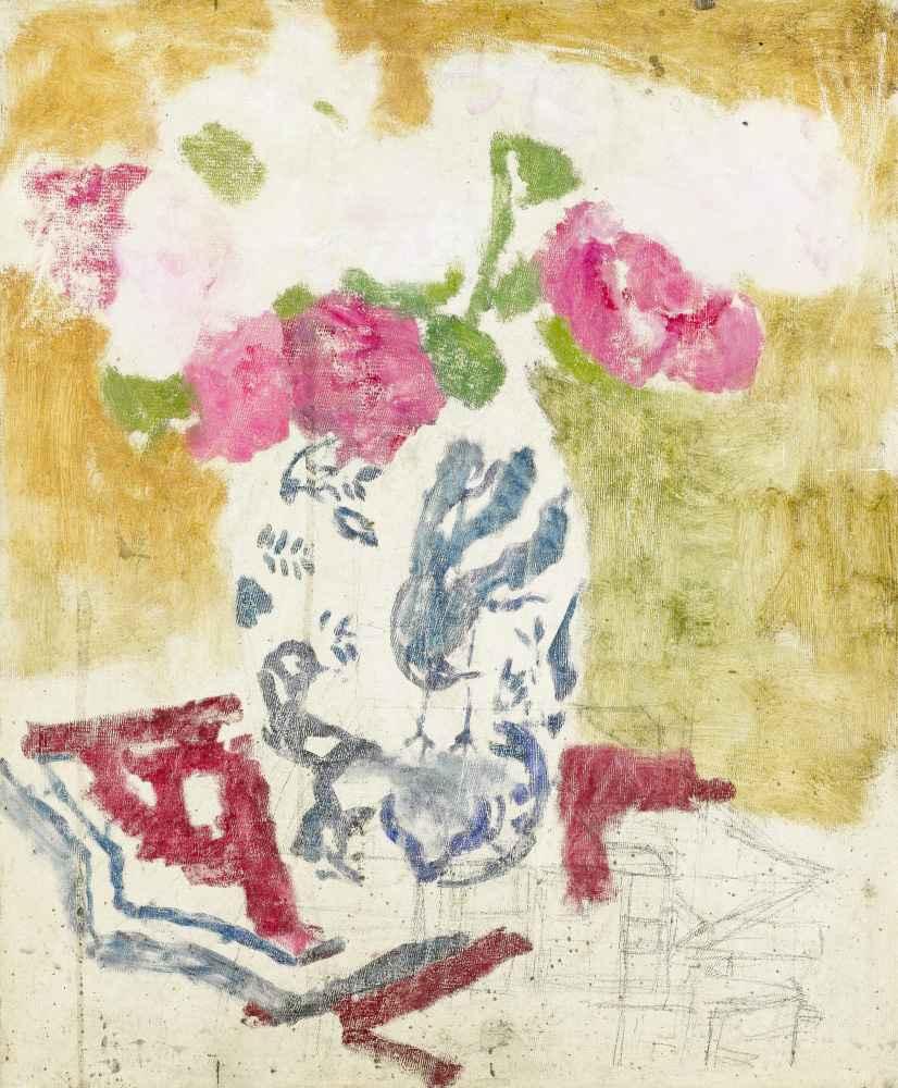 Vase with Pink Flowers - George Hendrik Breitner