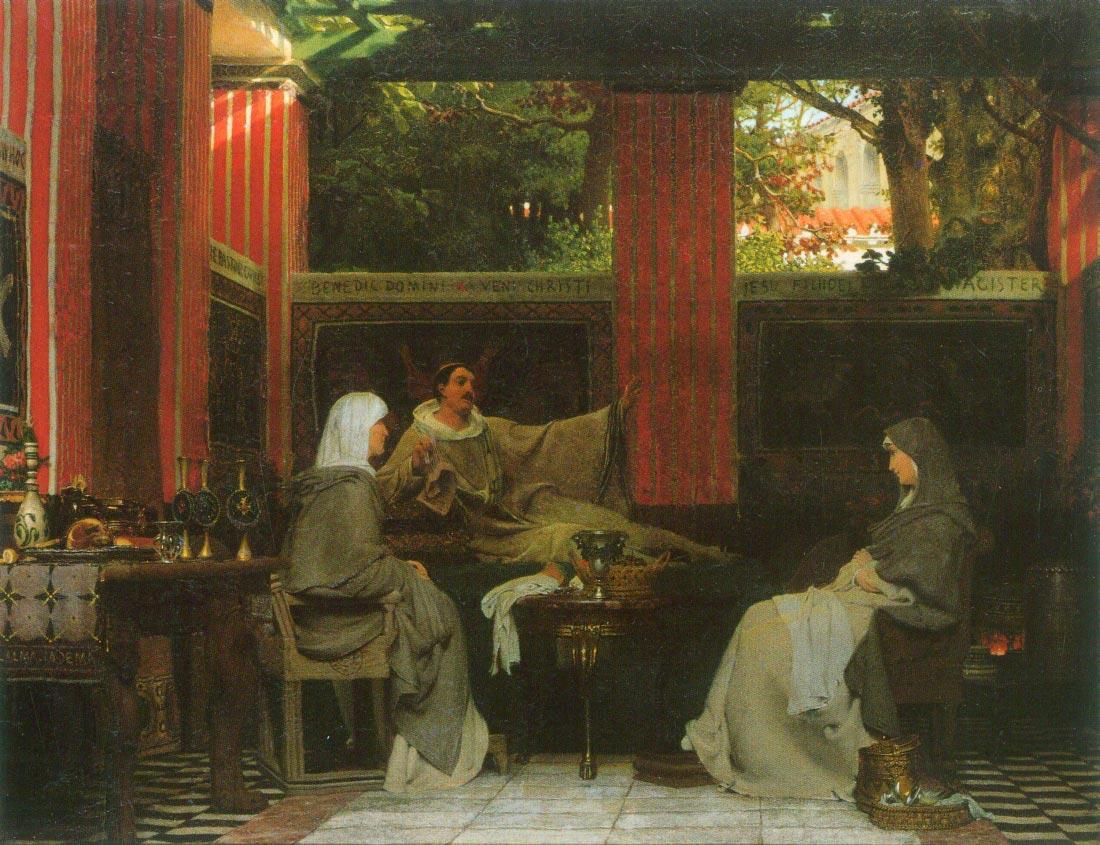 Venantius Fortunatus contributes Radegund VI - Alma-Tadema