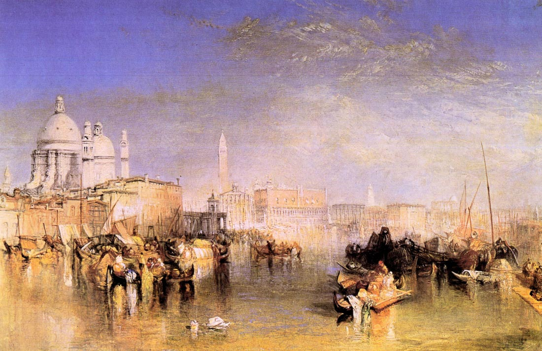 Venice from the canal - Joseph Mallord Turner
