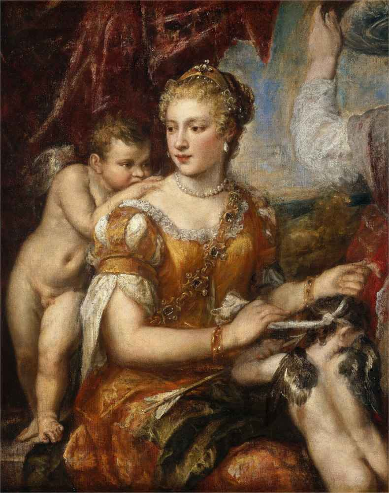 Venus Blindfolding Cupid - Tycjan