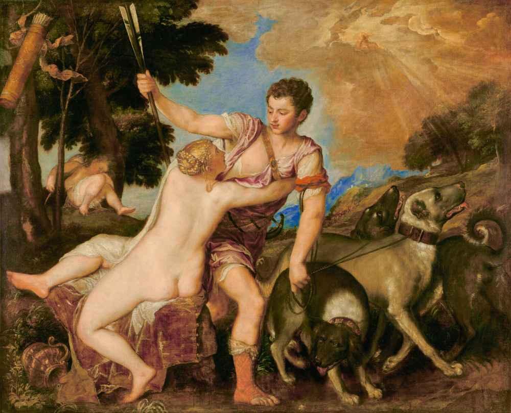 Venus and Adonis 3 - Tycjan