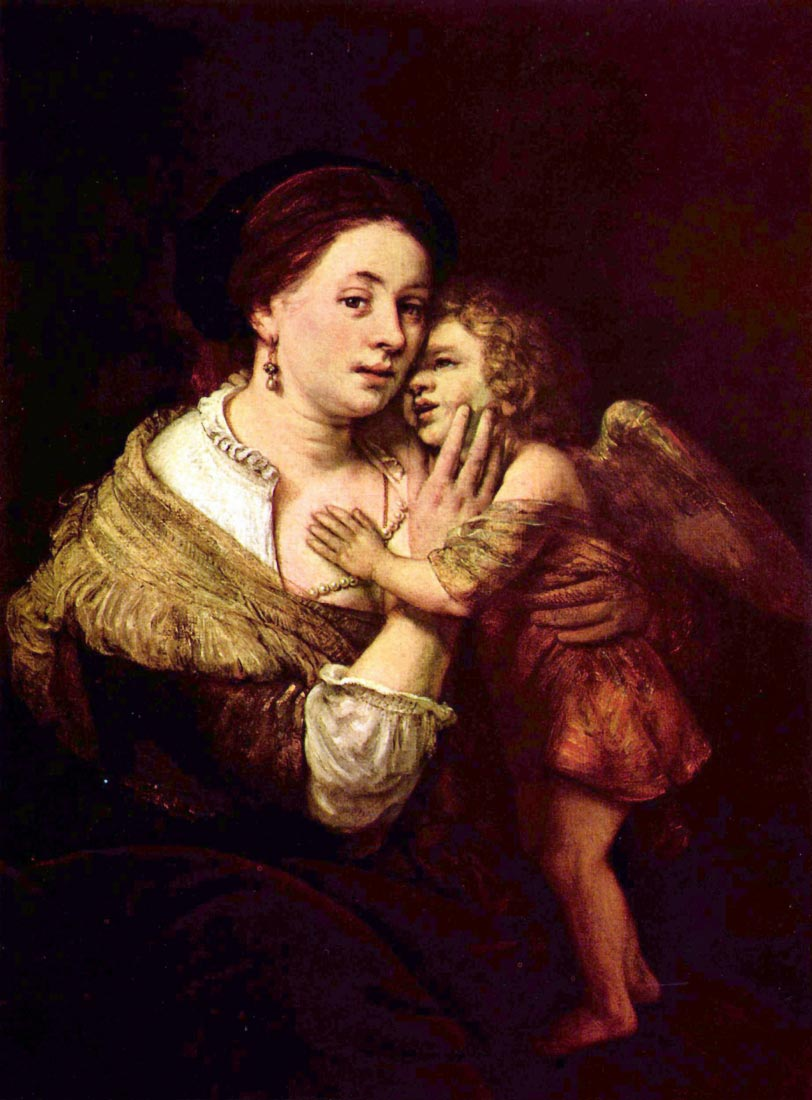 Venus and Cupid - Rembrandt