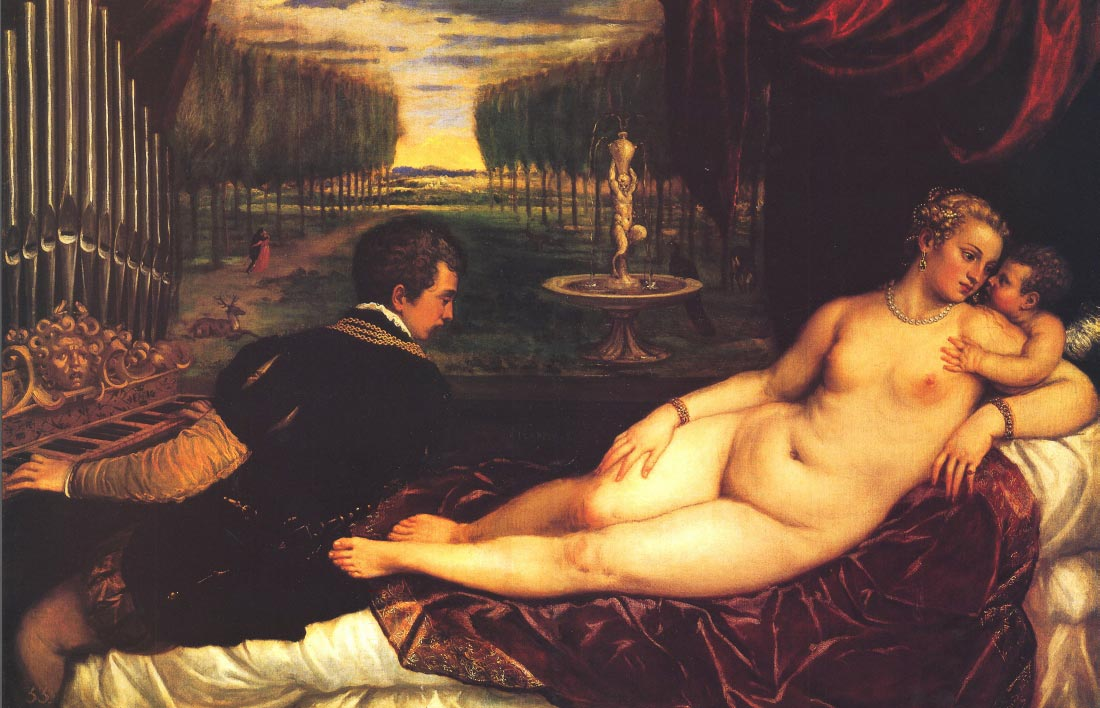 Venus with Cupid - Titian