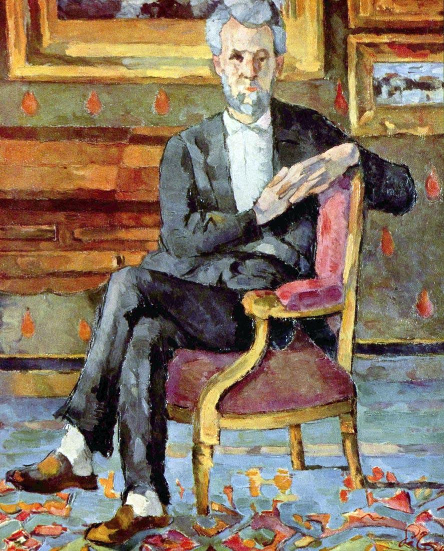 Victor Chocquet seated portrait - Cezanne