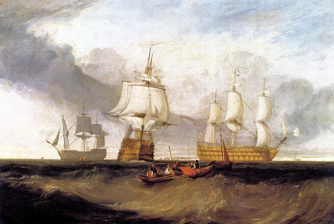 Victory in Trafalgar - Joseph Mallord Turner