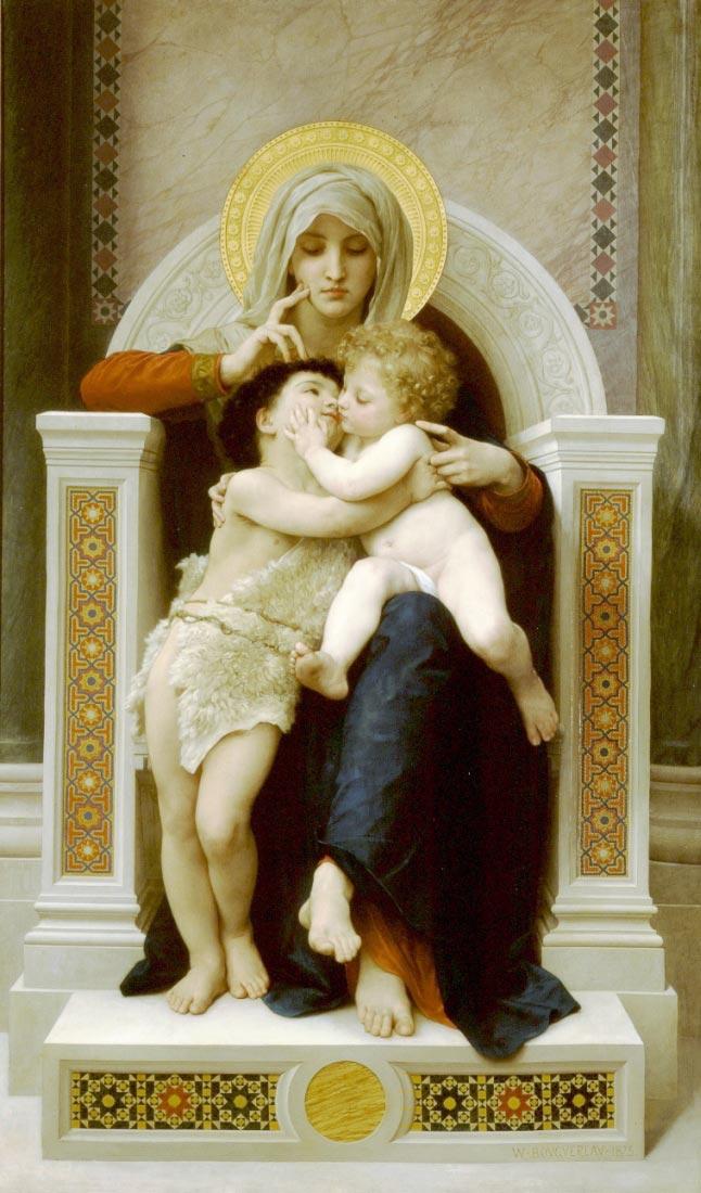 Vierge-Jesus SaintJeanBaptiste 1875 - Bouguereau