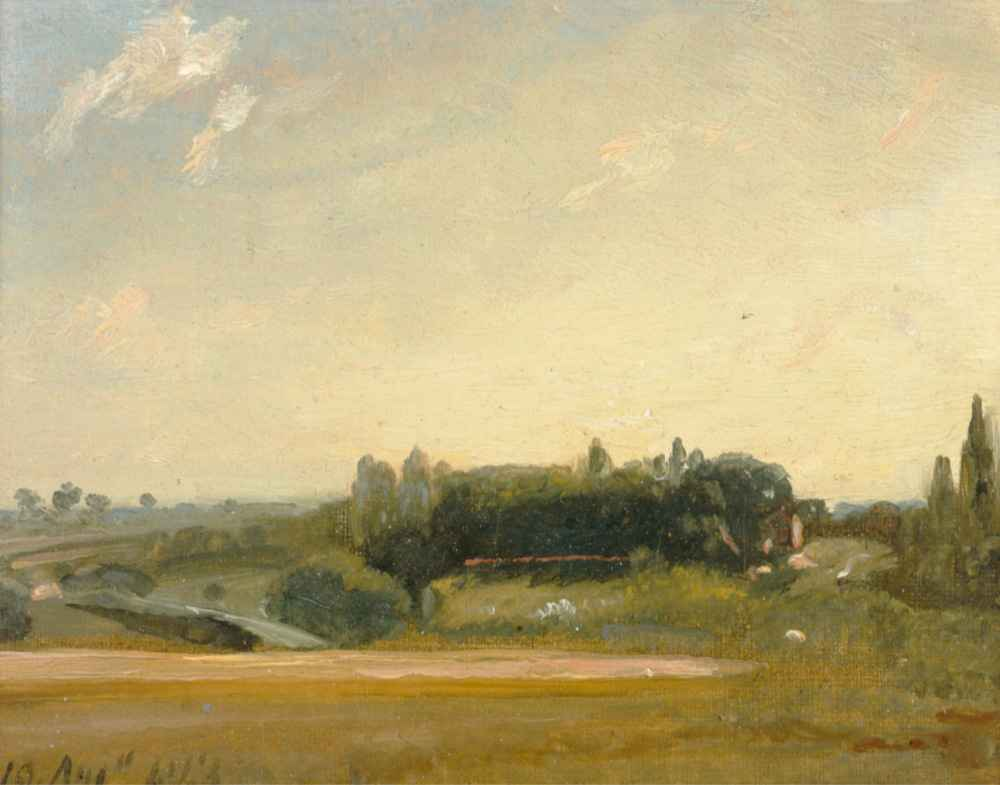 View Towards the Rectory, East Bergholt - John Constable