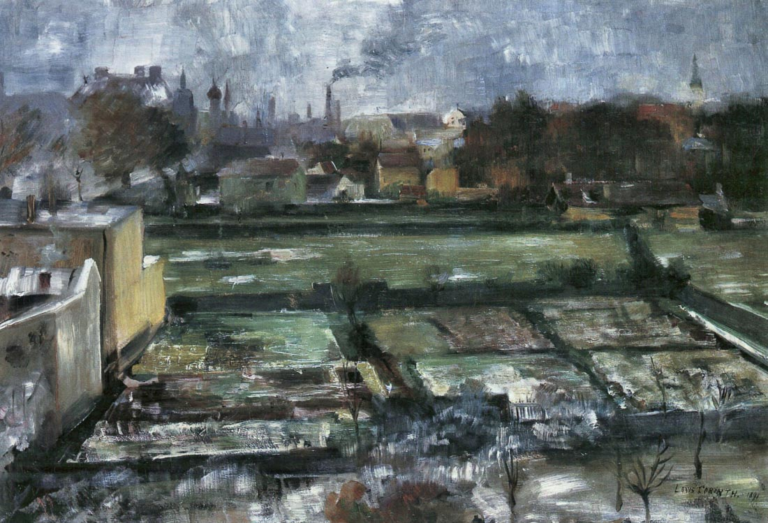 View from the studio - Lovis Corinth
