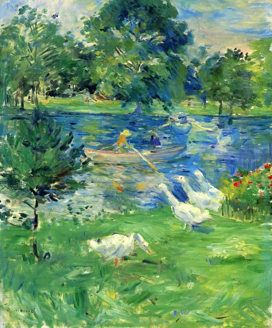 View of Bois de Boulogne - Morisot