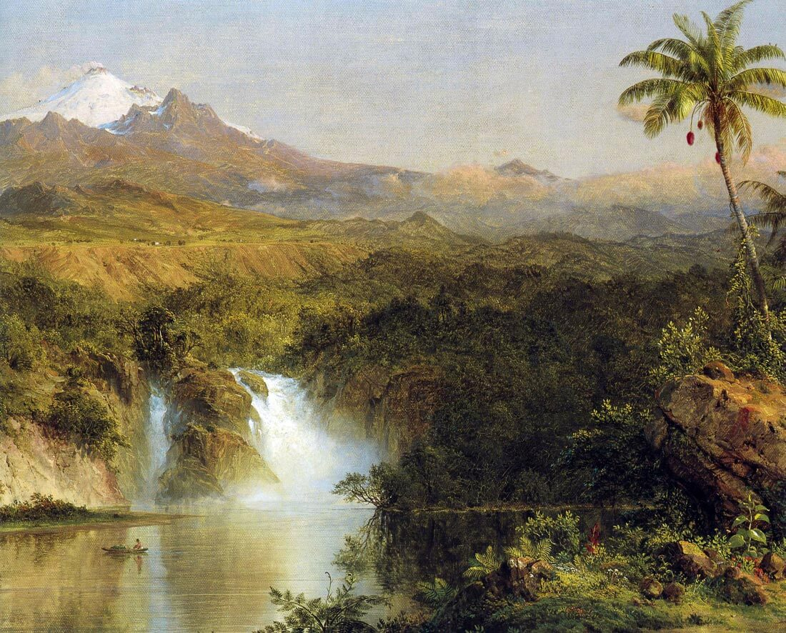 View of Cotopaxi, Ecuador Detail - Frederick Edwin Church
