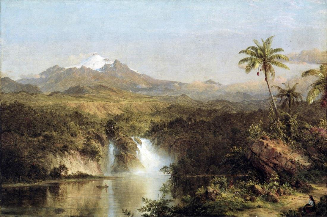 View of Cotopaxi, Ecuador - Frederick Edwin Church