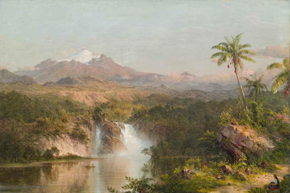 View of Cotopaxi - Pierre Puvis de Chavannes