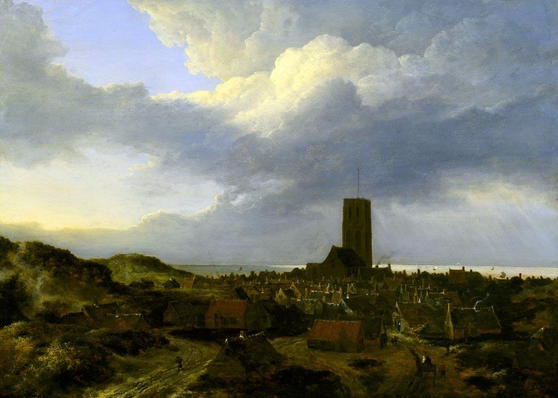 View of Egmond 1650 - Jacob van Ruisdael