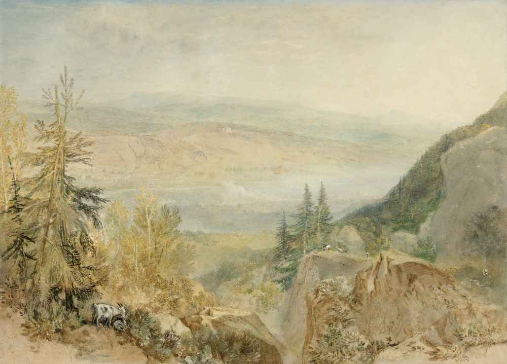 View of Farnley Hall in Yorkshire - Joseph Mallord William Turner