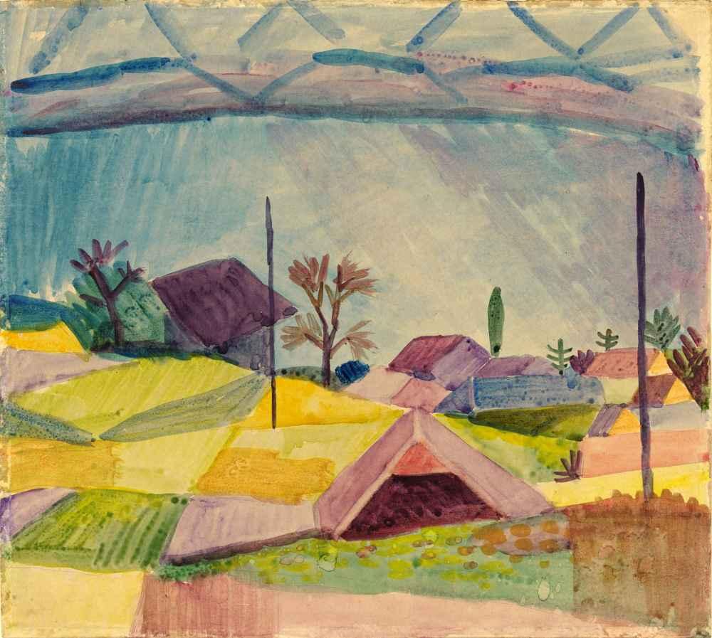 View of Hilterfingen - August Macke