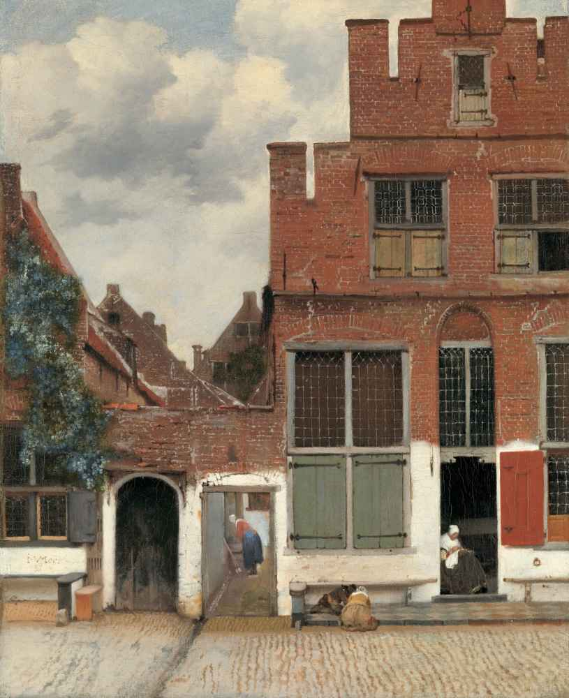 View of Houses in Delft, Known as 'The Little Street' - Jan Vermeer