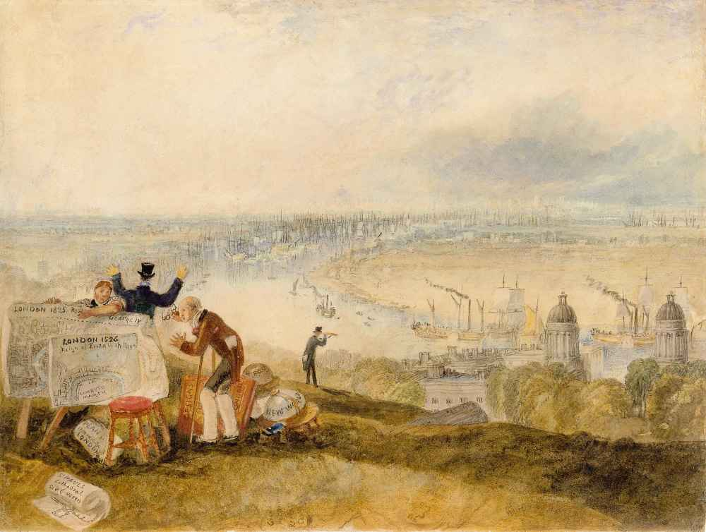 View of London from Greenwich - Joseph Mallord William Turner