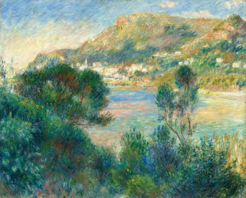 View of Monte Carlo from Cap Martin - Auguste Renoir