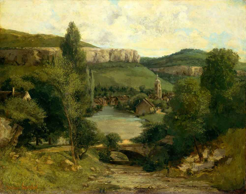 View of Ornans - Gustave Courbet