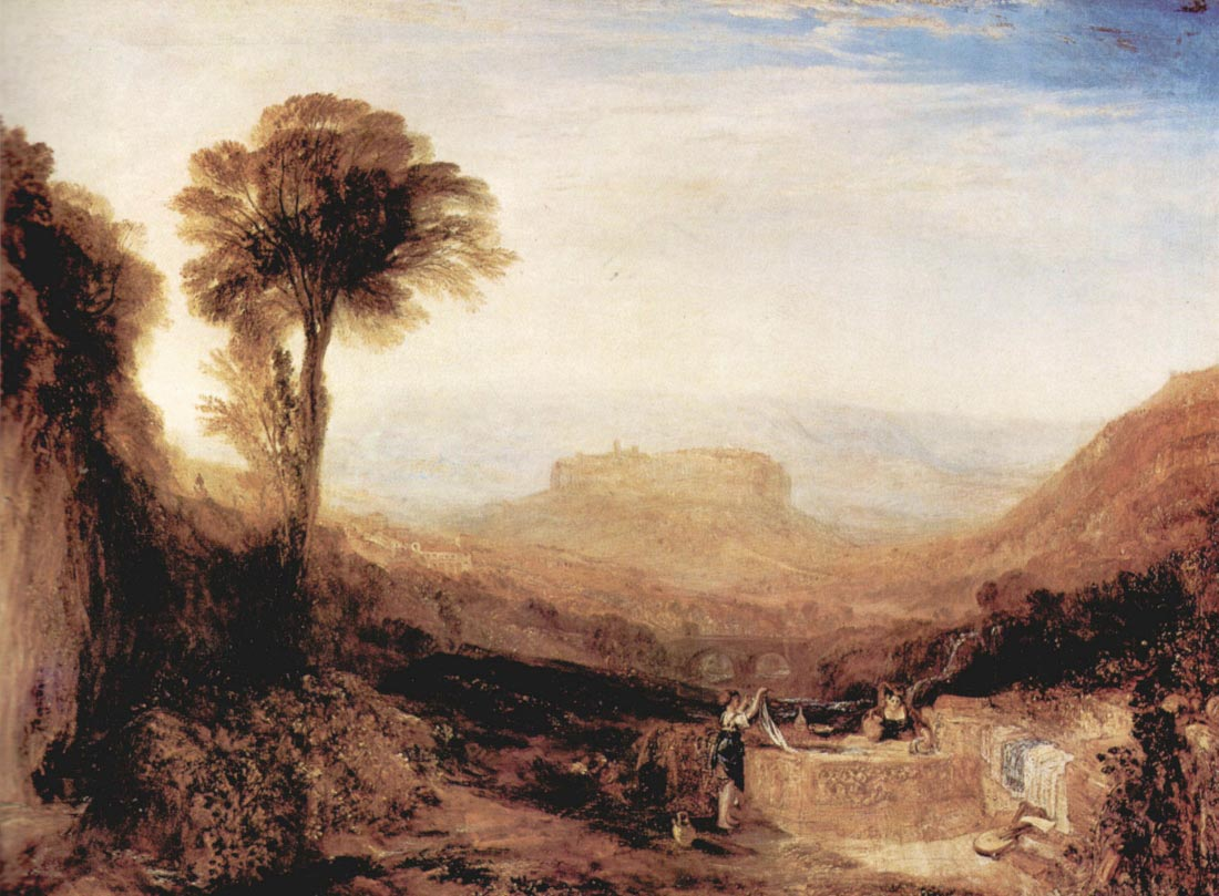 View of Orvieto, painted in Rome - Joseph Mallord Turner