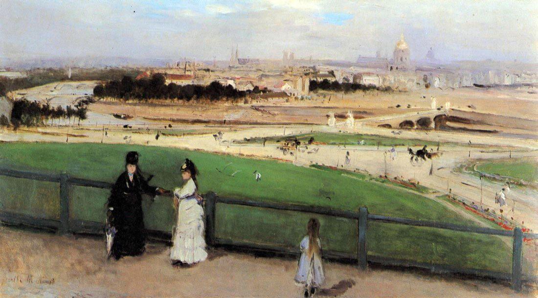 View of Paris from Trocadéro - Morisot
