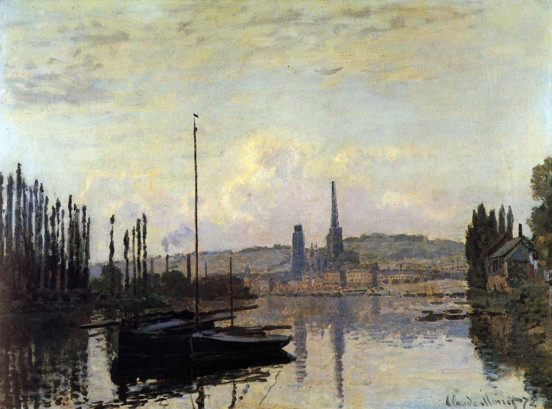 View of Rouen - Monet