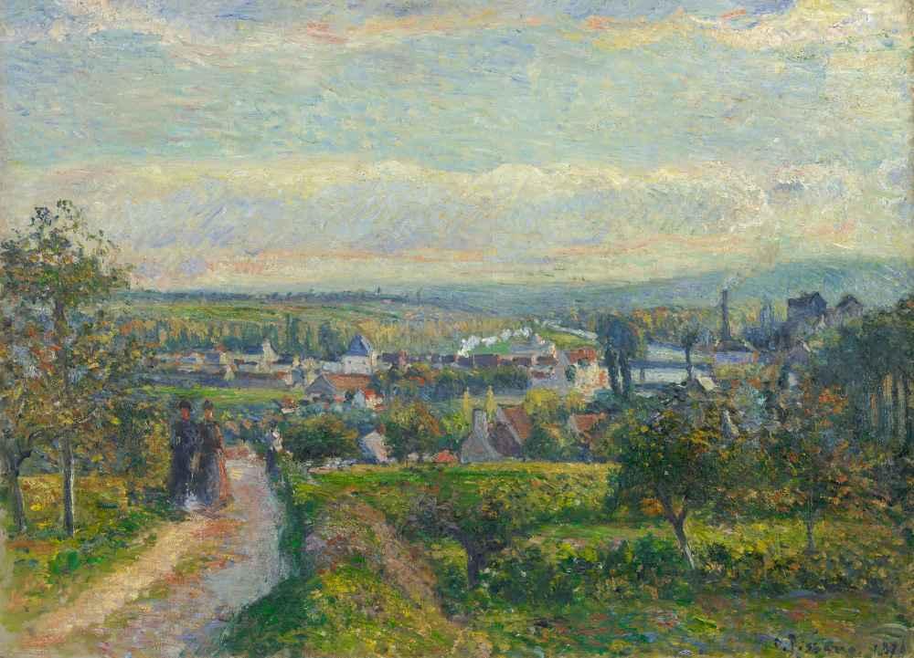 View of Saint-Ouen-l'Aumône - Camille Pissarro