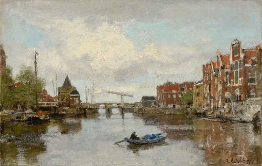 View of a Dutch City with the Schreierstoren in Amsterdam - Matthijs M