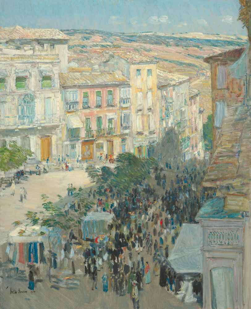 View of a Southern French City - Childe Hassam