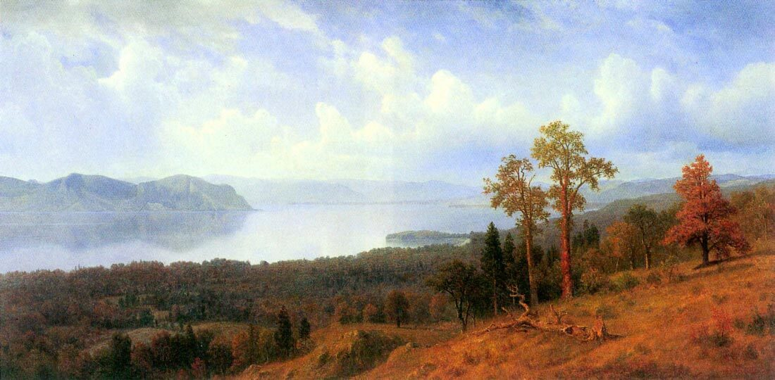 View of the Hudson River Vally - Bierstadt