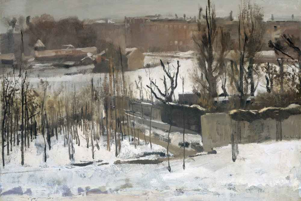 View of the Oosterpark, Amsterdam, in the Snow - George Hendrik Breitn