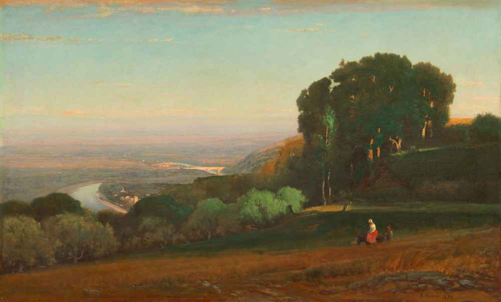 View of the Tiber near Perugia - George Inness