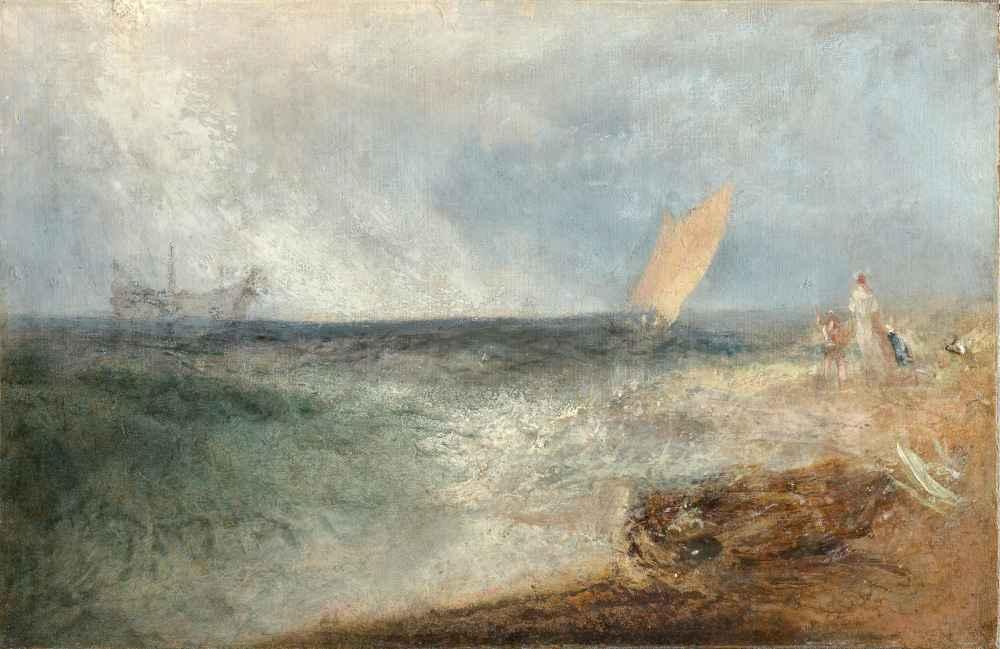 View off Margate, Evening - Joseph Mallord William Turner