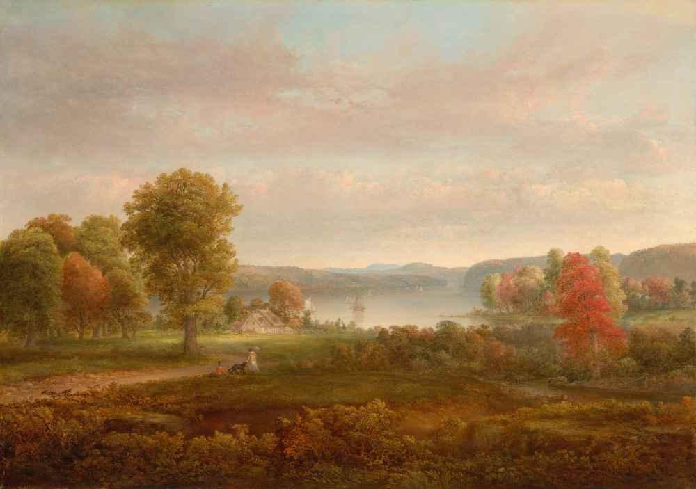View on the Hudson in Autumn - Thomas Doughty