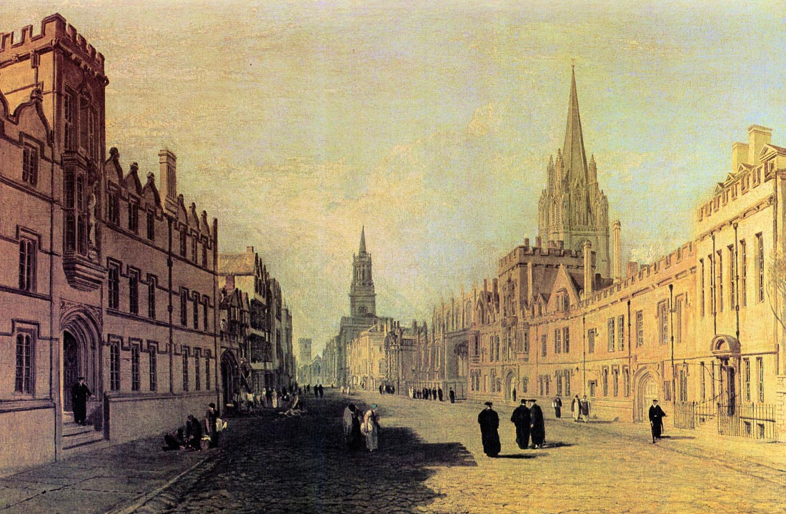View the High Street, Oxford - Joseph Mallord Turner
