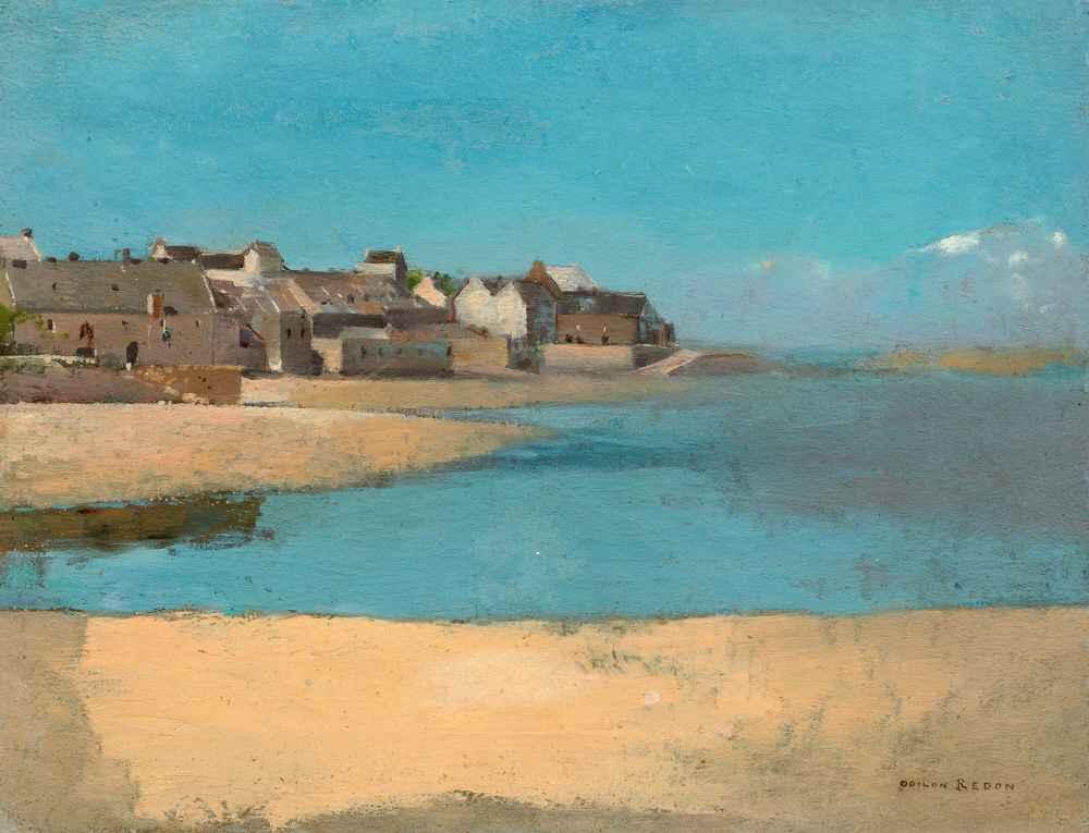 Village by the Sea in Brittany - Odilon Redon