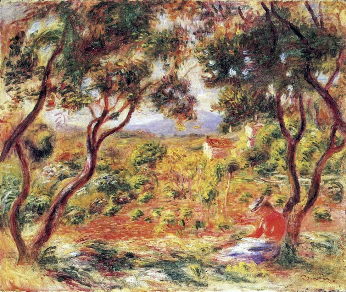 Vines at Cagnes - Renoir