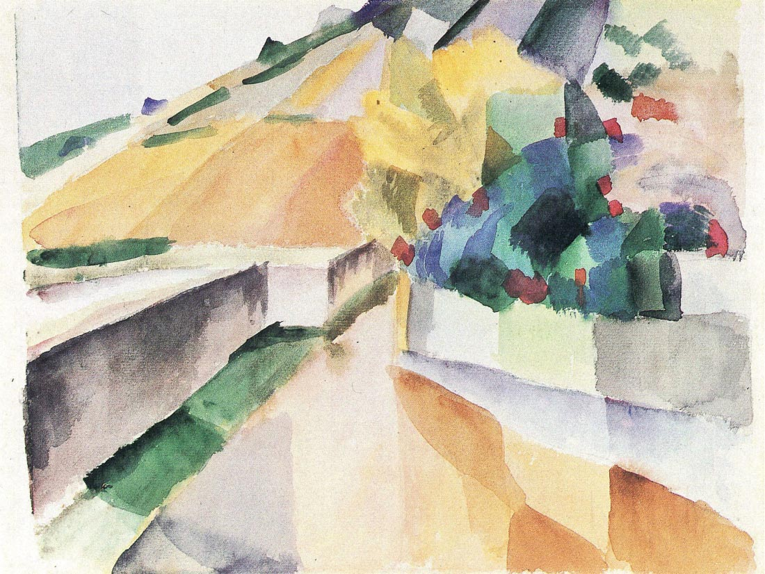 Vineyards on Lake Murten - August Macke