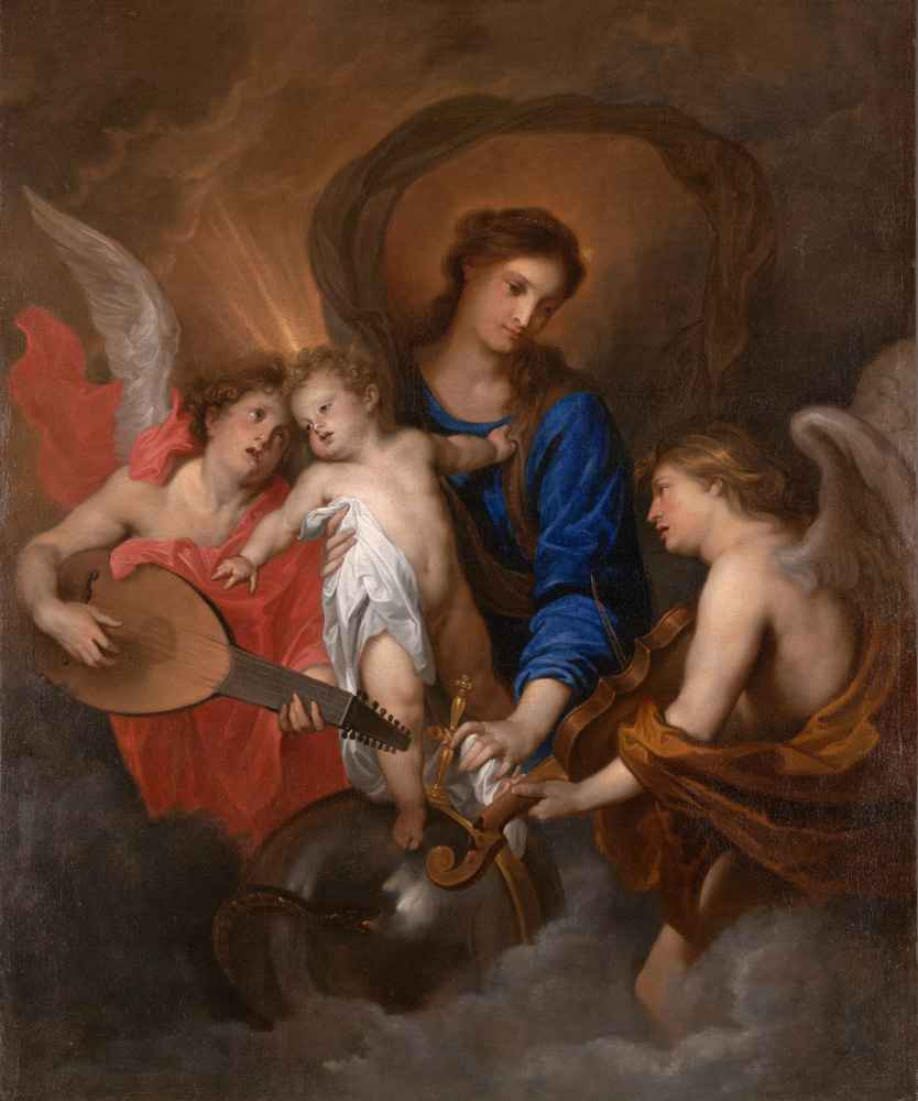 Virgin and Child with Music-Making Angels - Antoon van Dyck