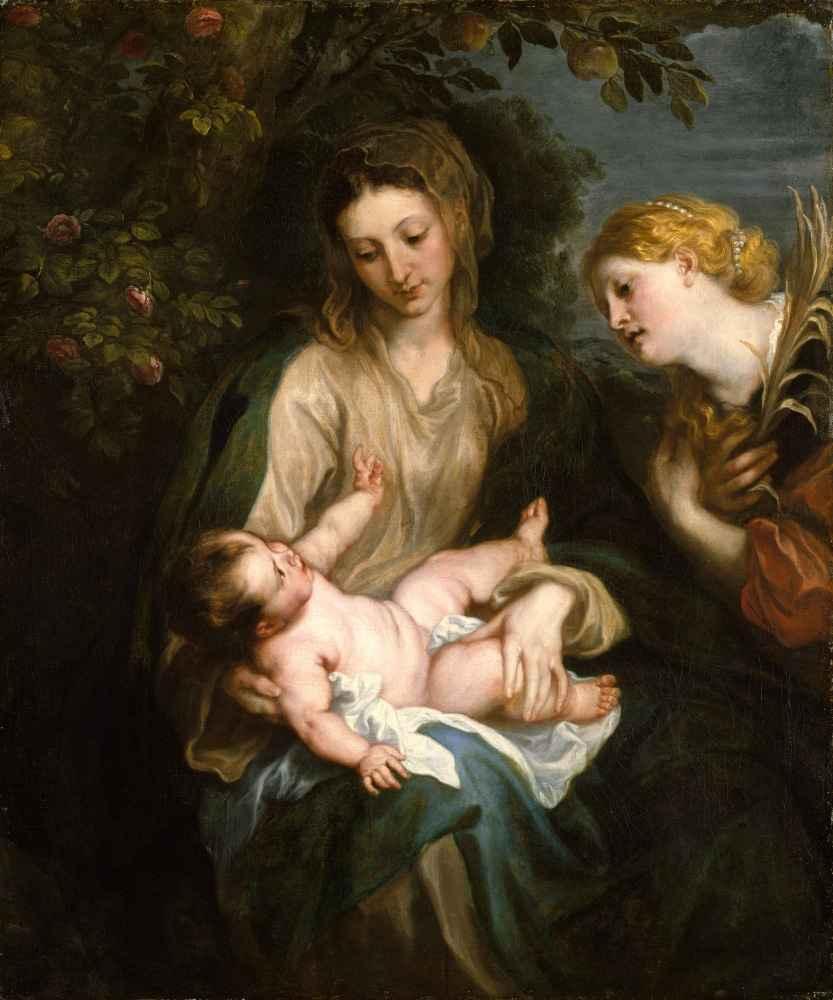 Virgin and Child with Saint Catherine of Alexandria - Antoon van Dyck